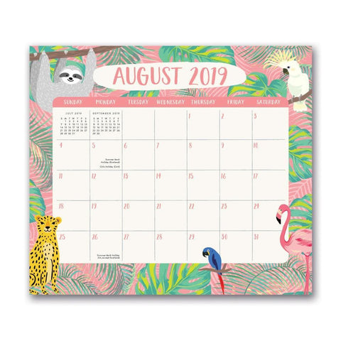 Jungle Life 2020 Mini Magnetic Monthly Pad Calendar Front Cover