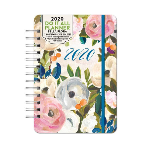 Bella Flora Do It All Planner 2020 Engagement Calendar Front Cover