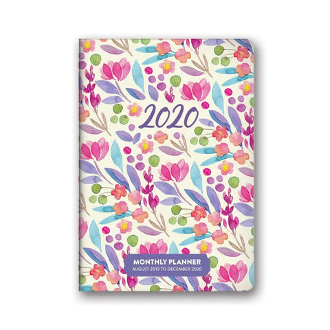 Bold Blossoms 2020 Monthly Pocket Engagement Calendar Front Cover