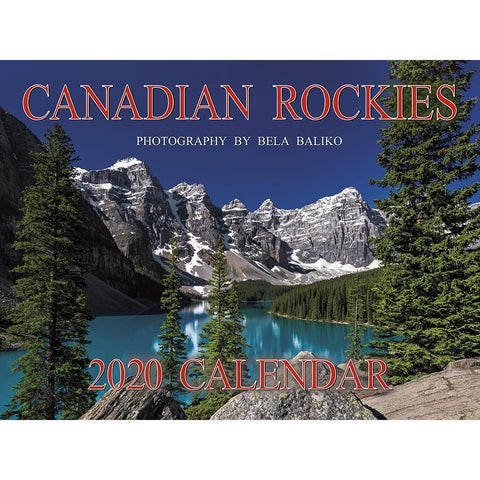 Canadian Rockies Wireo 2020 Wall Calendar