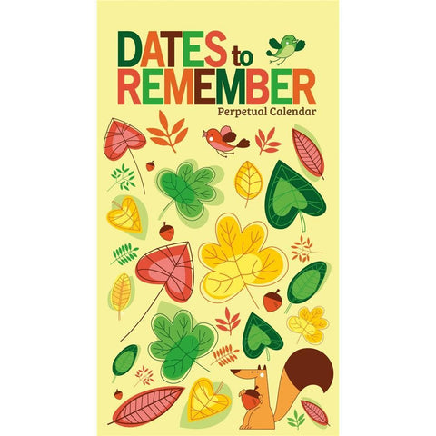 Dates to Remember  Non Dated Slim Calendar