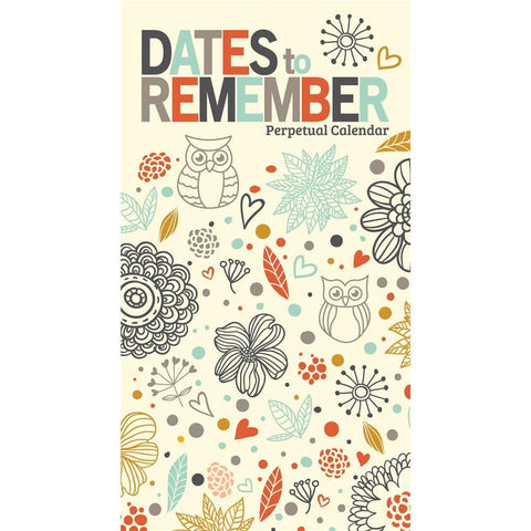 9781772183061 Dates to Remember 2019 Perpetual Slim Calendar Zebra Publishing - Calendar Club1