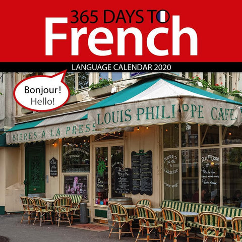 365 Days to French 2020 Wall Calendar Front Cover