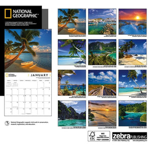 Islands NG 2021 Wall Calendar Back Cover Image