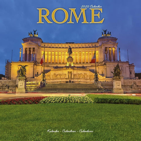 Rome 2020 Wall Calendar Front Cover