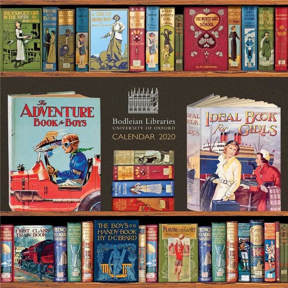 Bodleian Library Book Covers 2020 Wall Calendar - Online Exclusivel