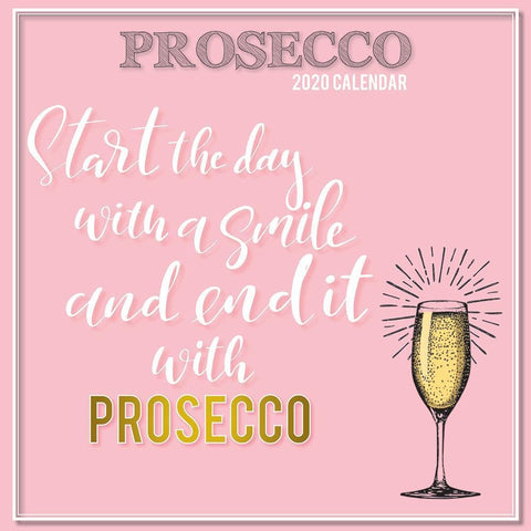 Prosecco 2020 Wall Calendar - Online Exclusive Front Cover