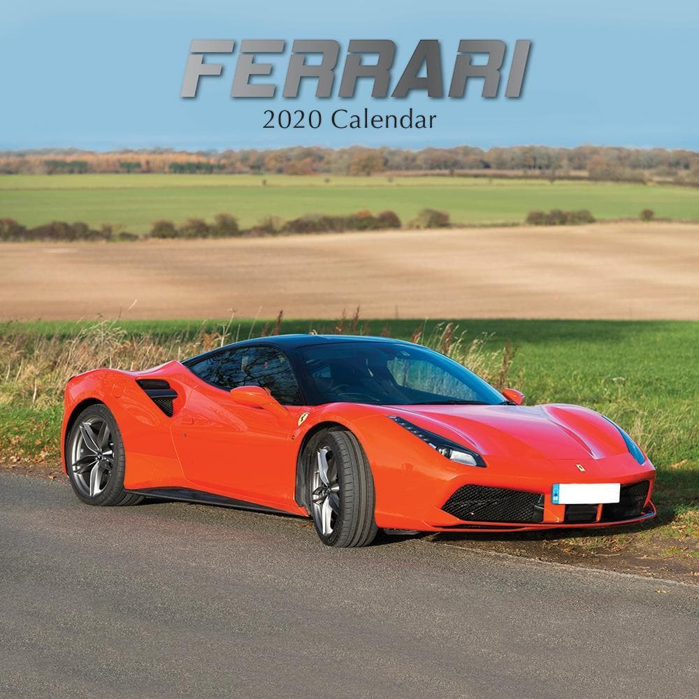 9781789782585 Ferrari 2020 Wall Calendar By The Gifted Stationery
