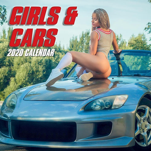 Girls and Cars 2020 Wall Calendar Front Cover