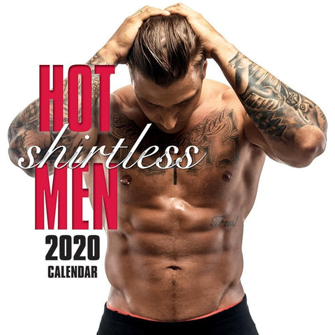 Hot Shirtless Men 2020 Wall Calendar Front Cover