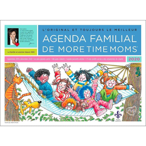 Agenda Familial 2020 Oversized Wall Calendar Front Image