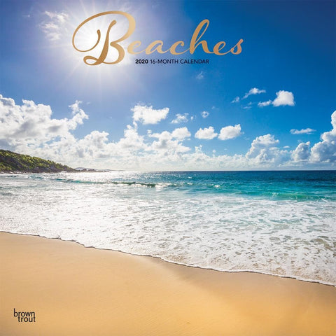 Beaches 2020 Wall Calendar Front Cover