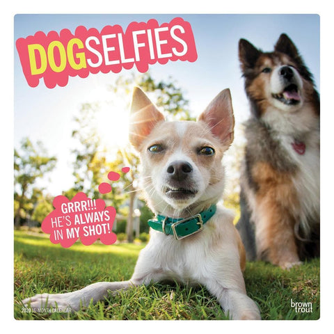 Dog Selfies 2020 Wall Calendar Front Cover
