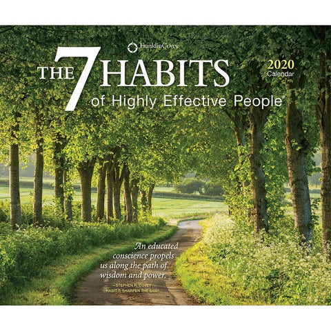 7 Habits of Highly Effective People 2020 Box Calendar Front Cover