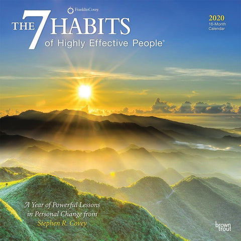 7 Habits of Highly Effective People 2020 Wall Calendar Front Cover