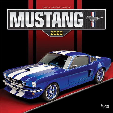 Mustang 2020 Wall Calendar Front Cover