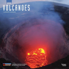 Volcanoes 2020 Wall Calendar Front Cover
