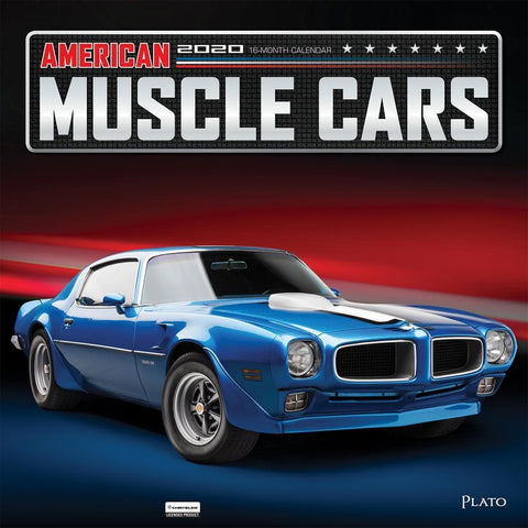American Muscle Cars Plato 2020 Wall Calendar Front Cover