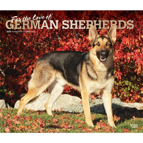 German Shepherds For the Love of Deluxe 2020 Wall Calendar  Front Cover