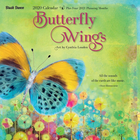 Butterfly Wings 2020 Wall Calendar Front Cover