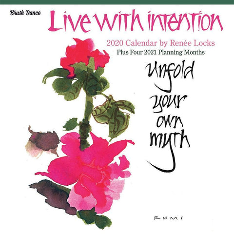 Live with Intention 2020 Wall Calendar Front Cover