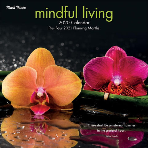 Mindful Living 2020 Wall Calendar Front Cover