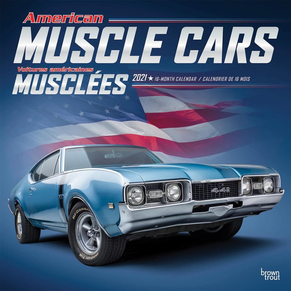 Calendrier Serie Us 2021 American Muscle Cars 2021 French Wall Calendar by BrownTrout