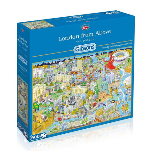 London from Above 500 Piece Puzzle Packaging