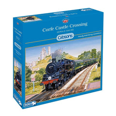 Corfe Castle Crossing Scenic Puzzle 500 Piece Packaging