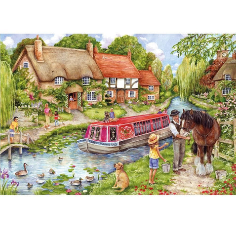 Drifting Downtstream Scenic Puzzle 500 Piece