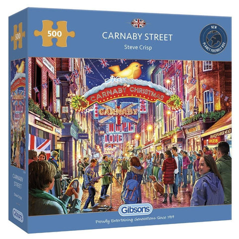 Carnaby Street 500 Piece Puzzle packaging