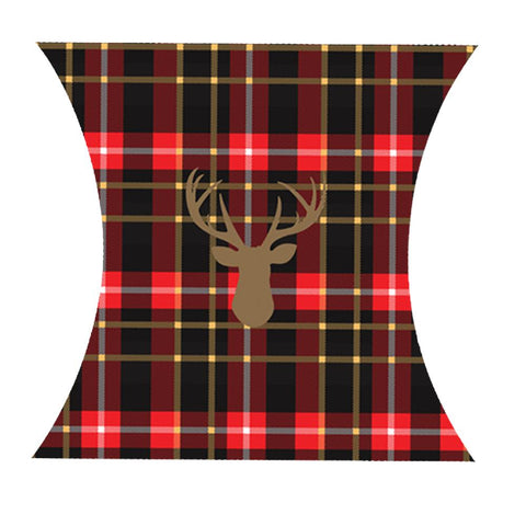 Giftwrap Red Plaid with Deer Calendar Wrap