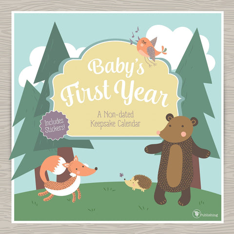 Baby's First Year 2018 Woodland Perpetual Calendar