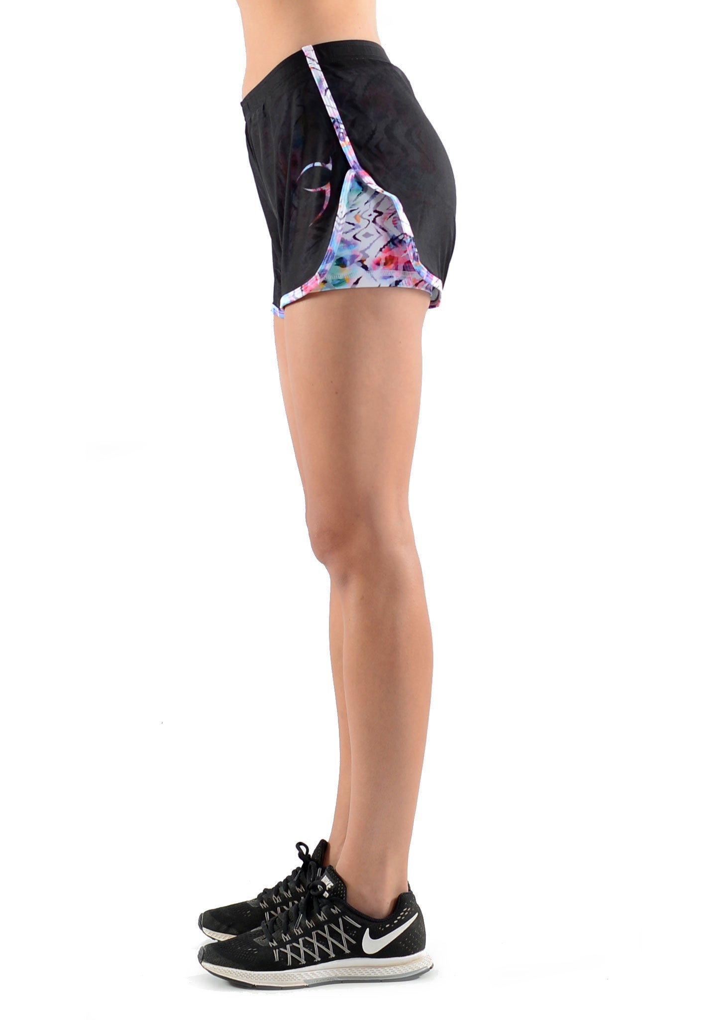 2-In-1 Flex Run Shorts - Picasso Bloom