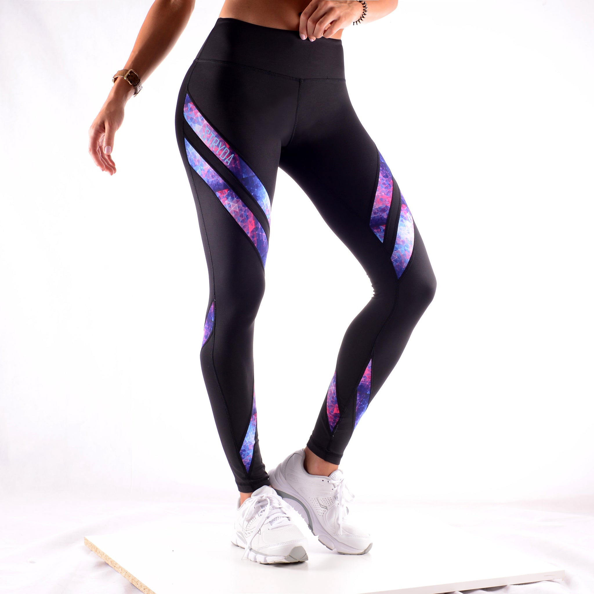 PURPLE MATRIX F/L Tights