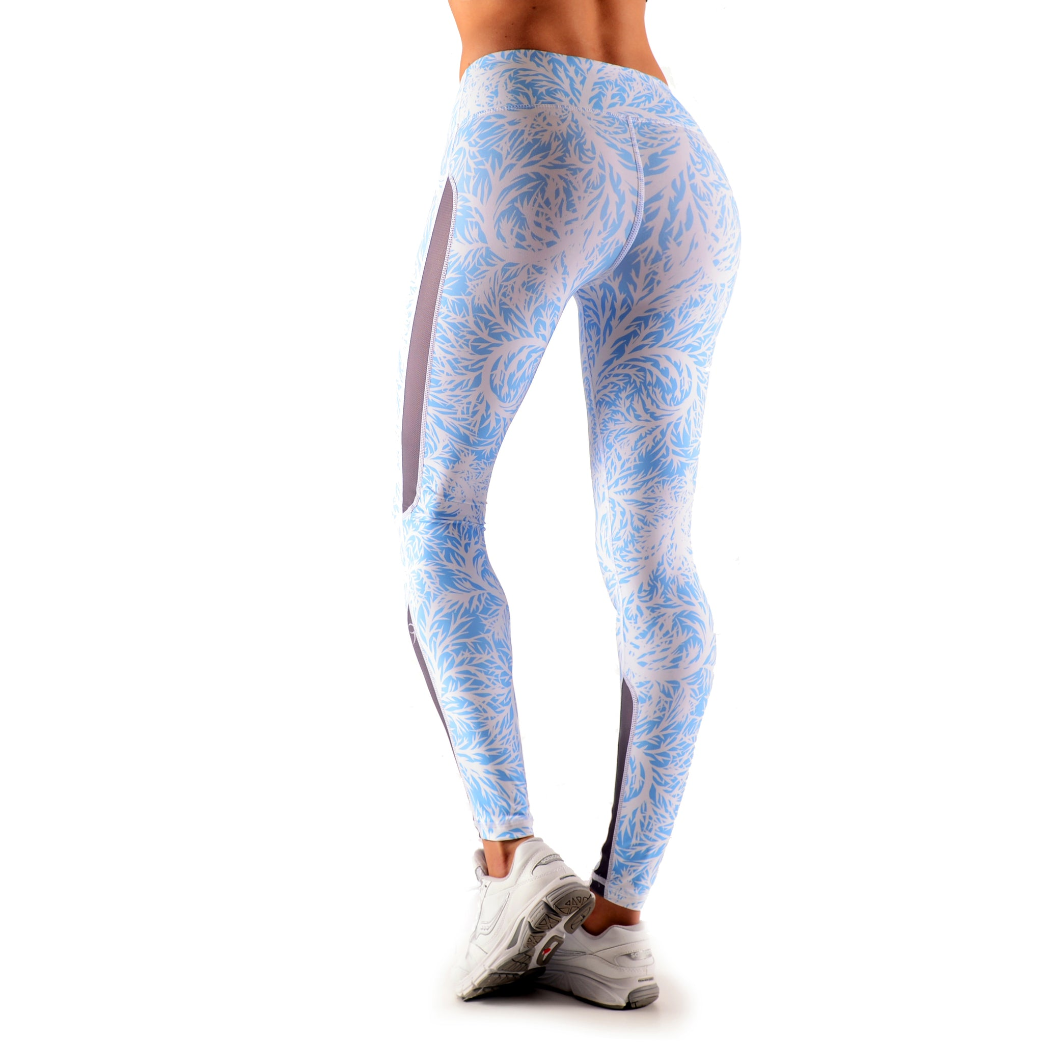 Winter Bloom Full Length Compression Tights