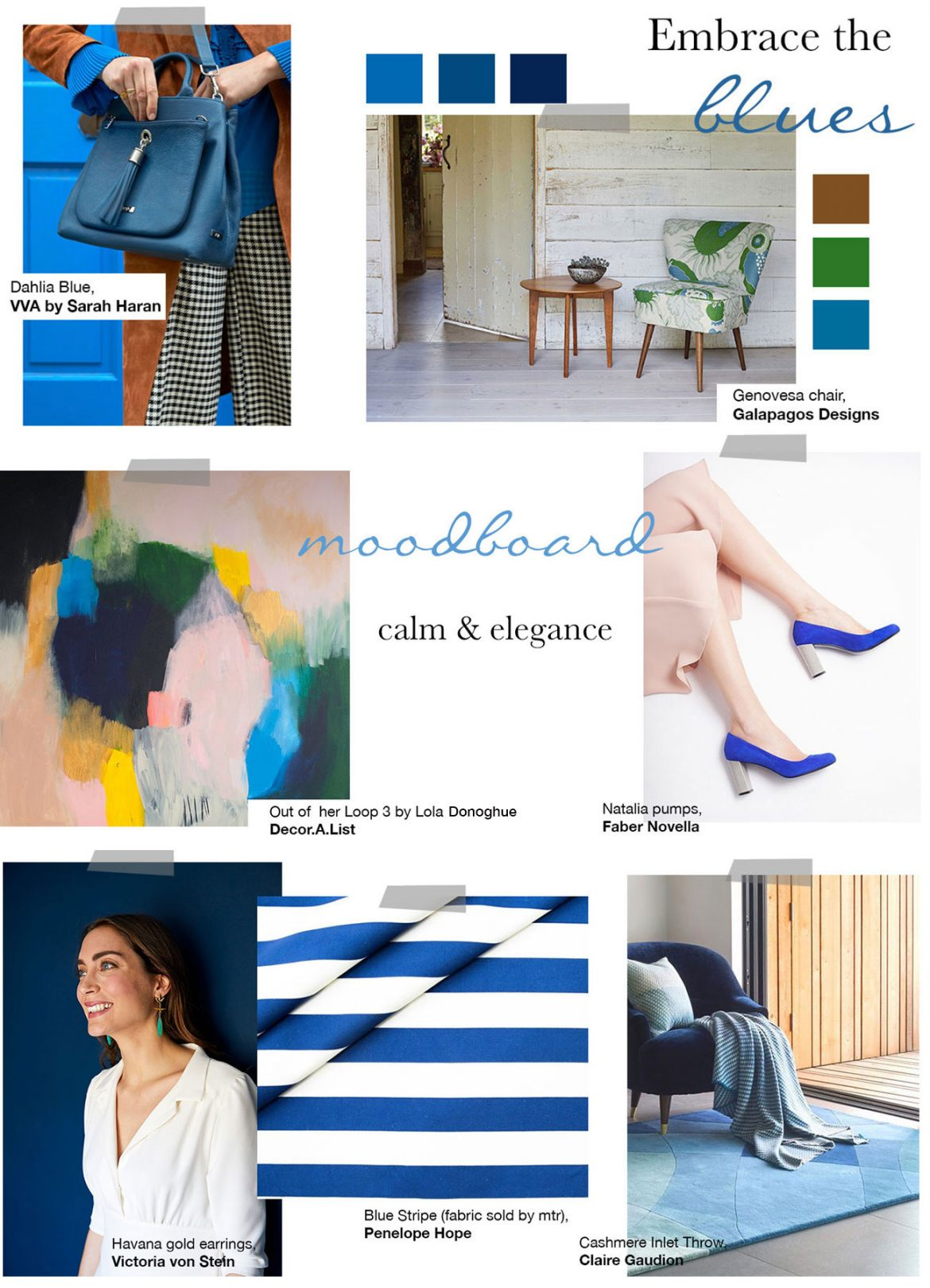Embrace the blues moodboard