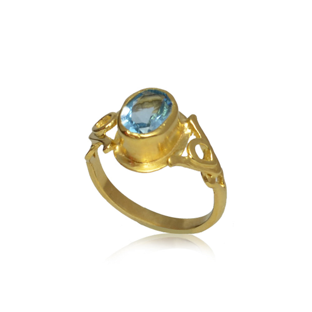 Promise Ring with Blue Topaz