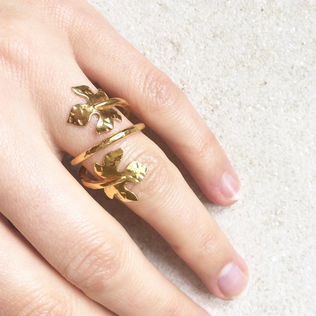 Lana Leaf Wrap Ring