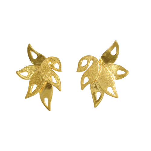 Lalita Tropical Leaf Stud Earrings