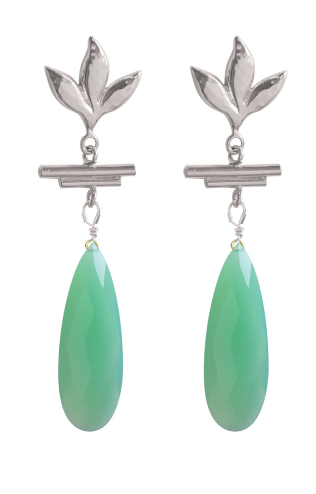 Havana Chandelier Earrings - Turquoise
