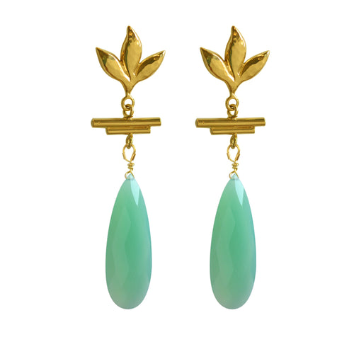 Havana Chandelier Earrings - Turquoise - Victoria von Stein Ltd