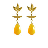 Havana Chandelier Earrings Yellow