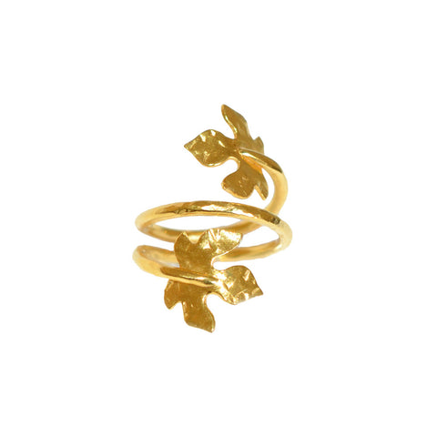 Lily Leaf Wrap Ring
