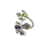 Lily Leaf Wrap Ring - Silver