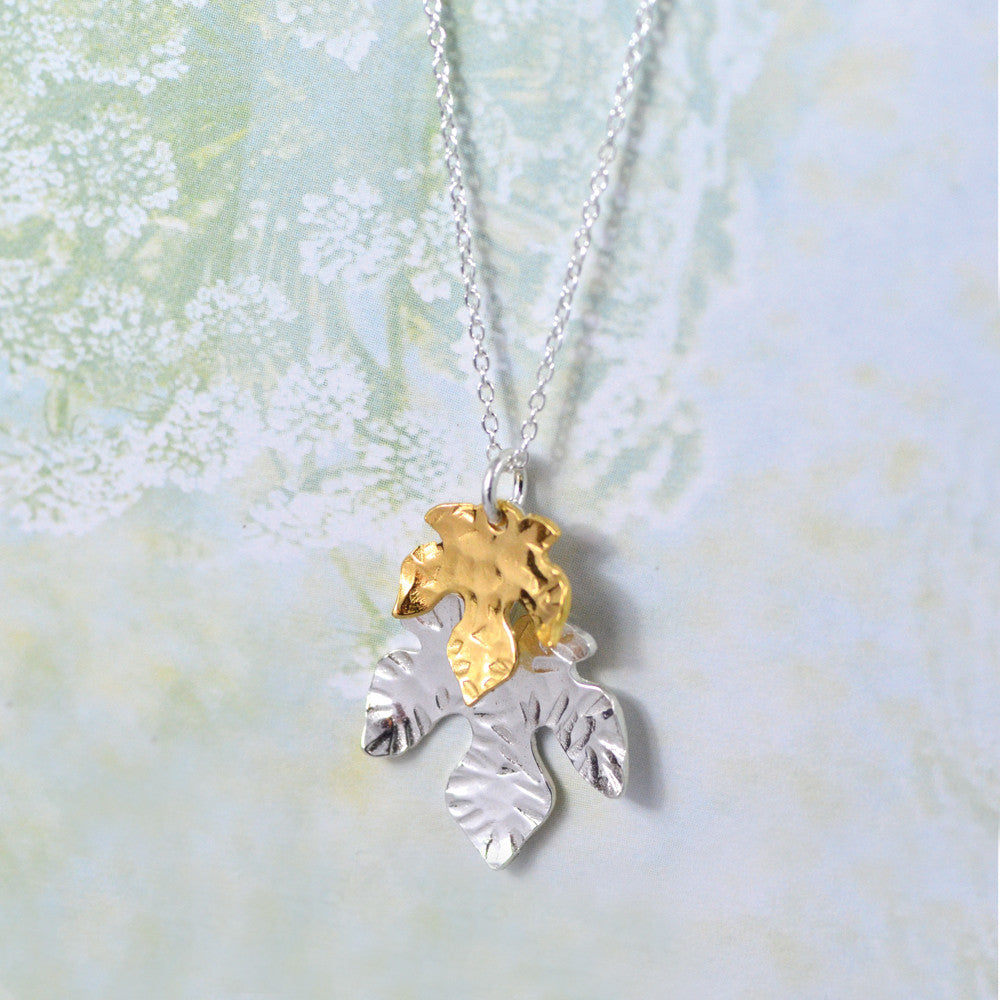 Lana Double Leaf Pendant - Lifestyle