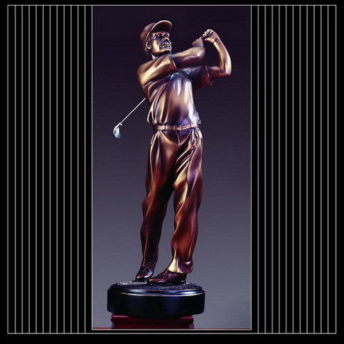 Golfer Finish Statue