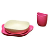 Beco bio degradable baby feeding set pink