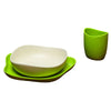 Beco bio degradable baby feeding set green