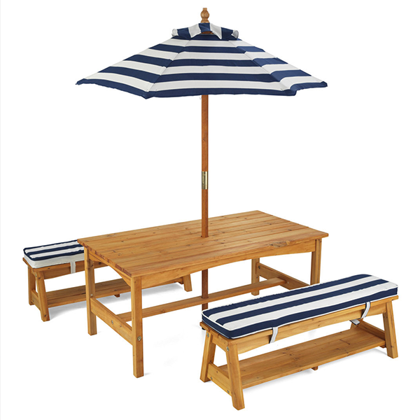 $279.00 Blue and White KidKraft Outdoor Table and Bench ...